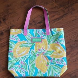 Lilly Pulitzer Tote with floral print.